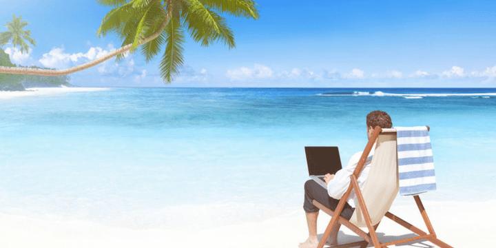 beach holiday working